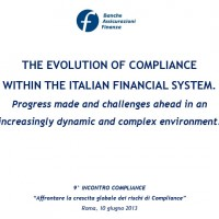 The evolution of Compliance within the Italian financial system.