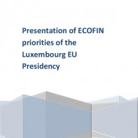 Presentation of ECOFIN priorities of the Luxembourg EU Presidenc