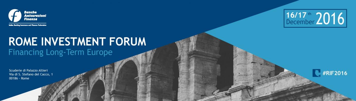 Rome Investment Forum 2016