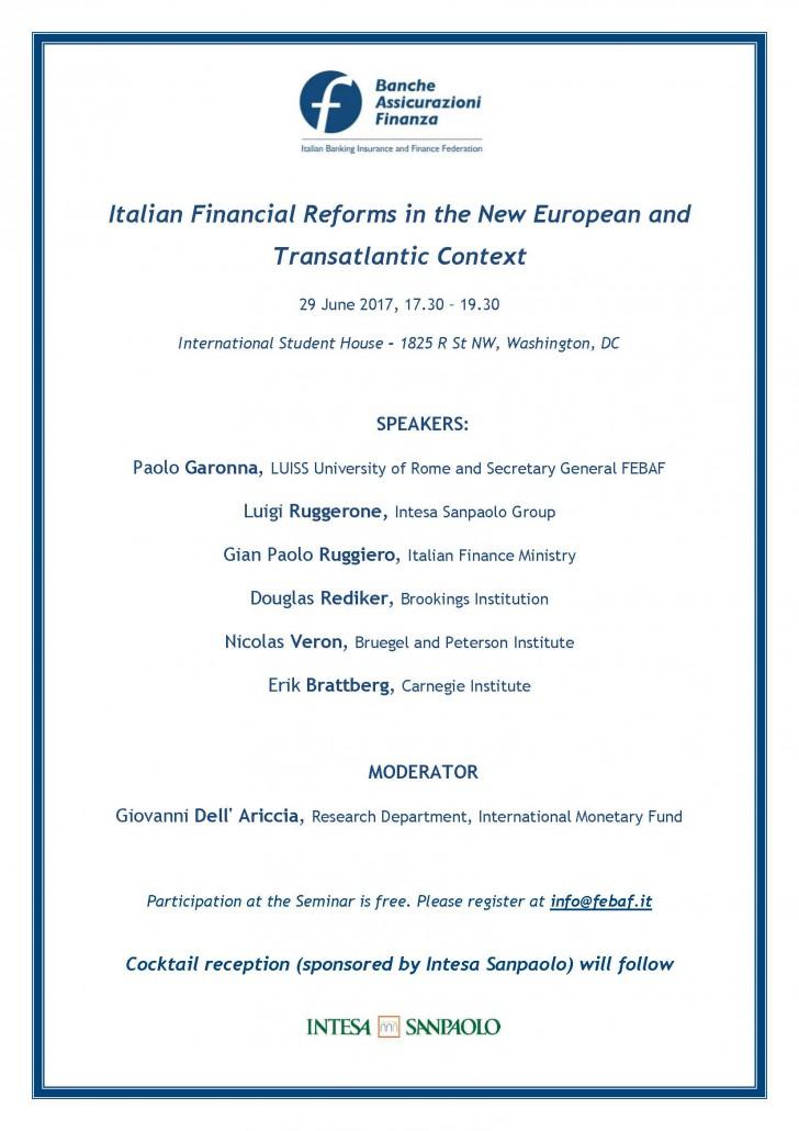 Economic Seminar - 29 June Washington DC