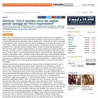 Garonna Con il mercato unico dei capitali grandi vantaggi per Pmi e risparmiato_Pagina_1