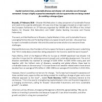 Press Release_SustainableFinance_DisasterRiskReduction_Pagina_1