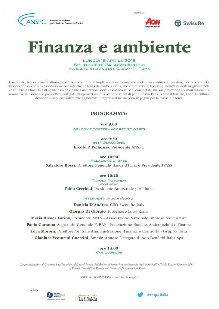 Programma 16 aprile